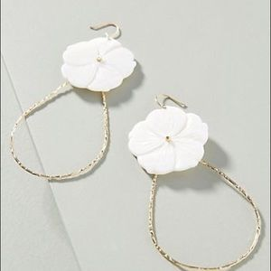 NWT Anthropologie floral hoop earrings